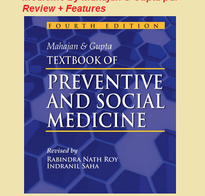 Download Textbook of Preventive And Social Medicine By Mahajan & Gupta pdf